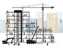 Budowa w Mieście royalty ilustracja