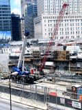 Budowa w mieście Zdjęcia Royalty Free