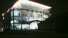 Budować w nocy Zdjęcia Royalty Free
