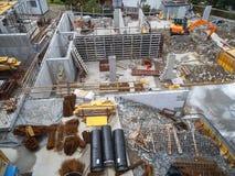 Budowa w Scenie od above Fotografia Stock