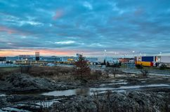 Budowa w Tychy, Polska fotografia stock