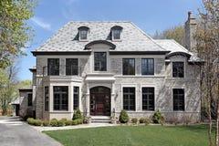 budowa widok frontowy domowy nowy zdjęcie royalty free