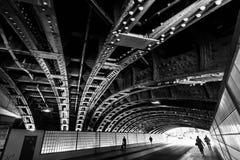Budowa widzieć od underneath budowa brid Zdjęcia Stock