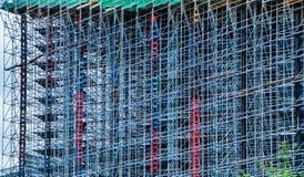 Budowa wieżowiec budowy Abstrakcjonistyczny szafot tekstury tło obrazy stock
