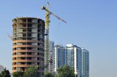 Budowa wieżowiec Fotografia Royalty Free