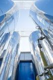 Budowa wielcy chemiczni składowi zbiorniki Fotografia Stock