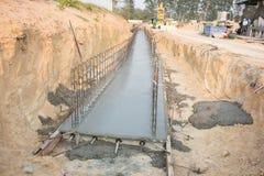Budowa wielki betonowy culvert Obraz Stock