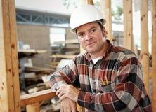 budowa wolnego czasu pracownika Obrazy Stock