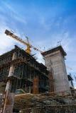 Budowa z crain Zdjęcia Stock