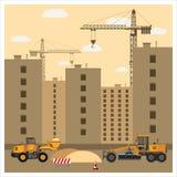 Budowa z wyposażeniem ilustracji