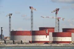 budowa zbiorniki Obrazy Stock