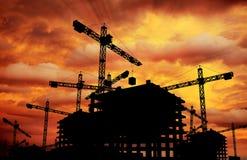 Budowa zmierzch Zdjęcia Stock