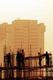 budowa zmierzchu miejsce fotografia stock