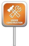 budowa znak Zdjęcie Royalty Free
