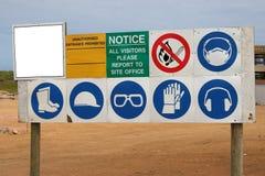 budowa znak Obrazy Stock