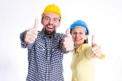 budowniczowie architektów szczęśliwi 2 zdjęcia stock