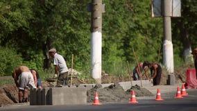 Budowniczowie budują drogi zdjęcie wideo