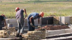 Budowniczowie na budowie zdjęcie wideo
