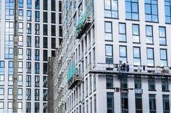 Budowniczowie naprawiają fasadę Obraz Stock