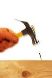 budowniczy hammer gwóźdź Zdjęcie Royalty Free