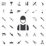 Budowniczy ikona Obraz Royalty Free