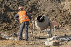 Budowniczy mieszanek beton zdjęcie royalty free