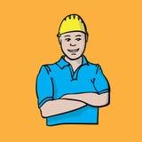 Budowniczy pomarańcze wektor Obrazy Stock
