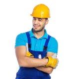 Budowniczy - pracownik budowlany Fotografia Royalty Free
