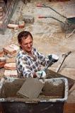 Budowniczy pracuje na miejscu Obrazy Royalty Free