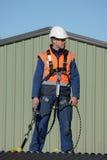 Budowniczy przygotowywający iść zdjęcia stock