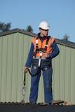 Budowniczy przygotowywający iść fotografia stock
