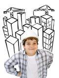 budowniczy przyszłość Obrazy Stock