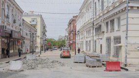 Budowniczy rekonstruujący Katedralny pas ruchu Obraz Royalty Free