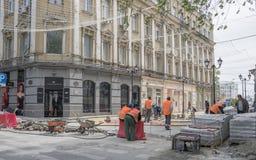 Budowniczy rekonstruujący Katedralny pas ruchu Obraz Stock