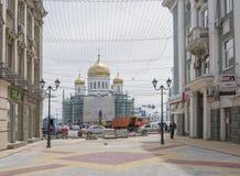Budowniczy rekonstruujący Katedralny pas ruchu Zdjęcie Stock