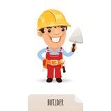 Budowniczy z kielnią ilustracja wektor