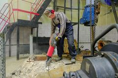 Budowniczy z młotem zdjęcie royalty free