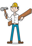 Budowniczy z młotem Zdjęcia Stock