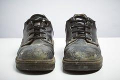 Budowniczych zbawczy buty odizolowywający na białym tle Zdjęcia Royalty Free