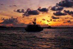 Budowy łódź Obraz Royalty Free