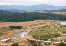 budowy autostrada fotografia stock