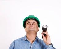budowy bezpieczeństwa pracownik zdjęcie royalty free