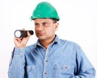 budowy bezpieczeństwa pracownik obrazy stock