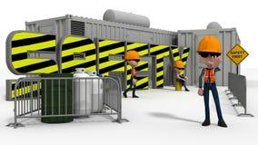 Budowy bezpieczeństwa scena ilustracja wektor