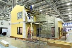 budowy budowniczych chałupy drużyna Obrazy Royalty Free