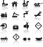 budowy diy ikony set Obrazy Royalty Free