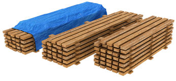 Budowy drewno Obrazy Royalty Free