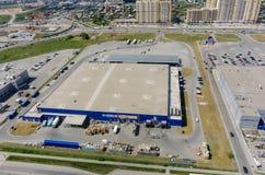 Budowy drogi i metra centrum handlowe Tyumen Obrazy Stock