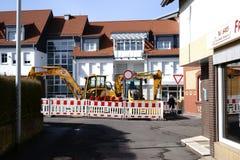 Budowy drogi miejsce Taunusstein-Wehen Zdjęcia Royalty Free
