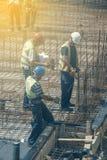 Budowy drużyna z projektem pracuje 2 Fotografia Royalty Free